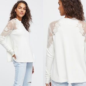 NWT Free People Daniella Top in Ivory